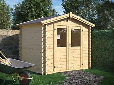 28 mm Gerätehaus 250x250 cm Gartenhaus Blockhaus Schuppen Qualität Holz