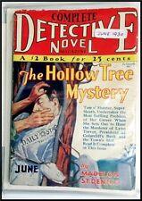"Pulp Magazine: COMPLETE DETECTIVE NOVEL June 1930. M St.Dennis ""Hollow Tree Myst"