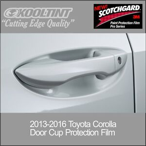 3M Paint Protection film for the Door Cup of the 2013 - 2017 Toyota Corolla
