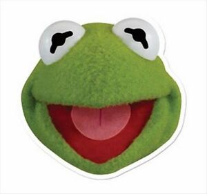 Kermit the Frog from The Muppet Show Single Fun Disney CARD Party Face Mask
