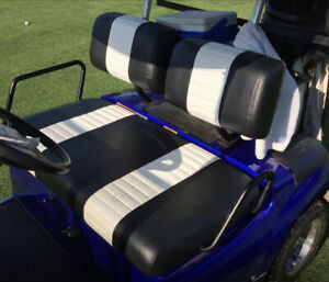 Yamaha G-11 - G-22 2 Stripe Staple On Golf Cart Seat Cover (2 Stripe)