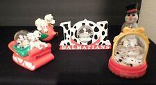 Disney's 101 Dalmatians 1996 McD 5 Christmas pups w/boxes + Poster