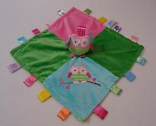 Taggies Oodles Owl Security Blanket Lovey Satin Baby Girls Mary Meyer