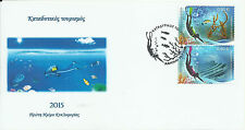 Greece 2015- Diving Tourism - Fdc with 2 self adhesive stamps -unofficial (3)