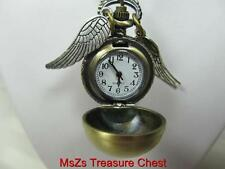 "Harry Potter's Quidditch ""GOLDEN SNITCH""  Pendant Quartz Watch  *Incl Gift Box*"