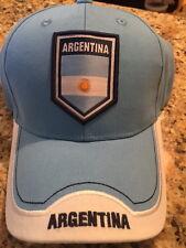 BRAND NEW OFFICIAL ARGENTINA FUTBOL  SOCCER FOOTBALL HAT CAP ONE SZ ADJUST NWT H