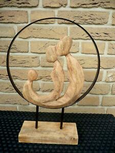 """Casablanca Design Skulptur """"Familia"""" 81095 Mangoholz H 41cm Familie Geschenk TOP"""