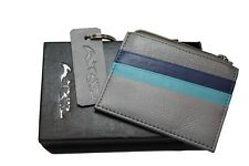 Job lot - 37 units of grey Reynard Leather cardholder purse. Brand new, boxed.