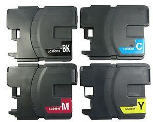 4x Tintenpatronen kompatibel mit Brother LC980 für DCP145C MFC290C wiederbefüllt