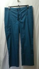Cherokee Luxe Men Large 1022 Caribbean Teal Pull On Zip Fly Front Scrub Pant