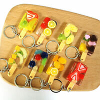 UK_ Fashion Jewelry Simulation Fruit Keychain Bag Pendant Car Ornament Gift