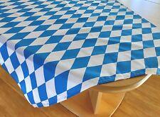 Bayerische Tischdecke weiß-blau Rauten-Tischdecke Oktoberfest bayrisch Tischdeko