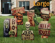 Night-Gring Yard Signs for Halloween Props Decorations Outdoor | 6 Pack.