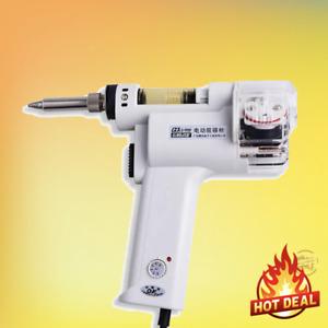 220V Electric Vacuum Double Pump Solder Sucker Desoldering Gun Soldering Iron