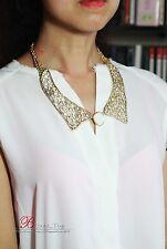 Collar Dorado Imitación Pegamento Maillet Piedra Cristal Transparente Original