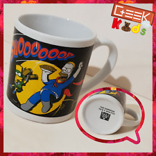 Petit Mug The Simpsons Noir 'Swoooooop' Homer et Bart super héros 2014 - Ref M2
