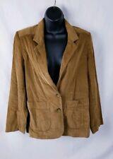 Jantzen Corduroy Jacket Women's Size 12 Brown Blazer 2 Button
