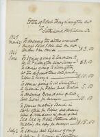 1845 Handwritten Document Estate Ledger Robert J Livingston Sutherland Crofts