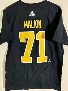adidas  NHL T-Shirt Pittsburgh Penguins Evgeni Malkin Black sz L