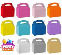 Solid Colour Birthday Wedding Food Favour Gift Party Boxes