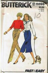 Easy Straight Leg Gathered Front Pants Skirt Pocket Waistband Sewing Pattern 14