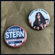 "Howard Stern 1.5"" buttons badge Baba Booey Sirius Governor"