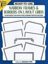 Ready-to-Use Narrow Frames & Borders on Layout Grids (Dover Clip-Art)