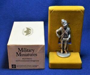 NIB Military Miniatures 3rd Continental 1777 Lady Washington's Dragoons Pewter