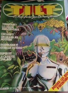 """!!! vieux magazine """"TILT Jeux Electroniques"""" n° 3 !!! complet"""
