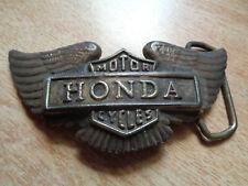 Vintage Honda Motorcycle Belt Buckle Motorcycle Dirt Bike Biker Emblem Shirt Hat