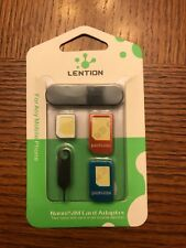 LENTION 5-in-1 Nano SIM Card to Micro / Standard SIM Card Adapter Converter Kits