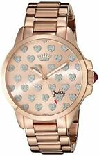 Juicy Couture Women's 1901253 Jetsetter Rose-Gold Heart Dial Watch
