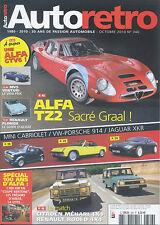 AUTO RETRO n°346 OCTOBRE 2010 ALFA TZ2 PORSCHE 914 JAGUAR XKR MEHARI/RODEO