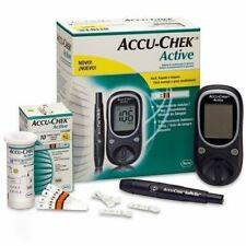 Accu-Chek-Active-Diabetes-Monitor-with-10-Test-Strips-Glucometer-free-shipping..