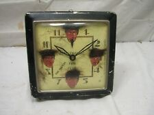 Original Vintage Beatlemaniac The Beatles Fan Club Alarm Clock with Hair Maniac