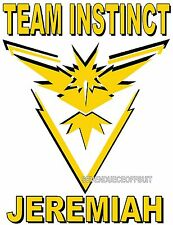 CUSTOM PERSONALIZED POKEMON GO PIKACHU T SHIRT TEAM INSTINCT MYSTIC VALOR