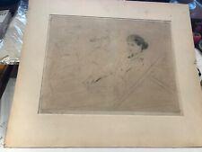 PAUL CESAR HELLEU 1859-1927 BELLE EPOQUE PARIS LADIES SIGNED DRYPOINT ETCHING