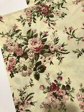 2 Ralph Lauren Standard Pillow Shams Floral Rose Yellow Pink Burgundy
