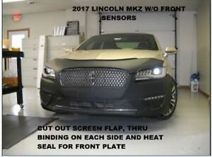Lebra Front End Cover Bra Mask Fits Lincoln MKZ 2017-2019 w/o front sensors