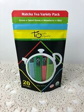 1-Touch Organic Matcha Tea Variety Pack NEW 20 Tea Tubes Strawberry Mint Green