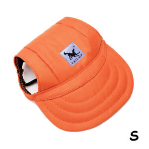 Puppy Pet Dog Cat Baseball Visor Sun Hat Cap for Small Large Dogs Outdoor S-L