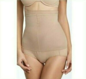 Spanx Womens Higher Power Brief High Waisted Panty Size E Nude Tan Beige