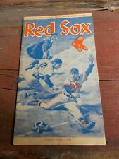 Vintage 1961 Boston Red Sox  vs Cleveland  Program And Score Card
