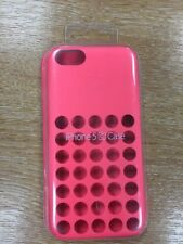 Official Apple Dot Silicone Rear Case Cover for iPhone 5C in Pink