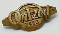 Vtg Bastian Bros Bronze Onized Union Employee Lapel Pin Rochester NY USA 3483