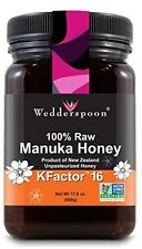 Wedderspoon 100% Raw Premium Manuka Honey Active KFactor 16+ 17.6 oz Jar