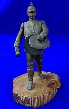 German Germany Wwi Ww1 Soldier w/ Drums Metal Figurine Statue Sculpture