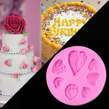 Heart Diamond Silicone Cake Molds Relief Resin Clay Soap Moulds Fondant Cupcake