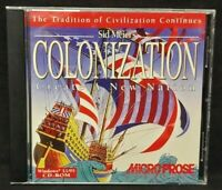 Sid Meier's Colonization Create a Nation  - PC Game CD ROM Disc, Case Mint Disc