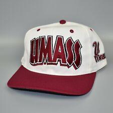 UMass Minutemen NCAA Twins Enterprise Vintage 90's Snapback Cap Hat - NWT